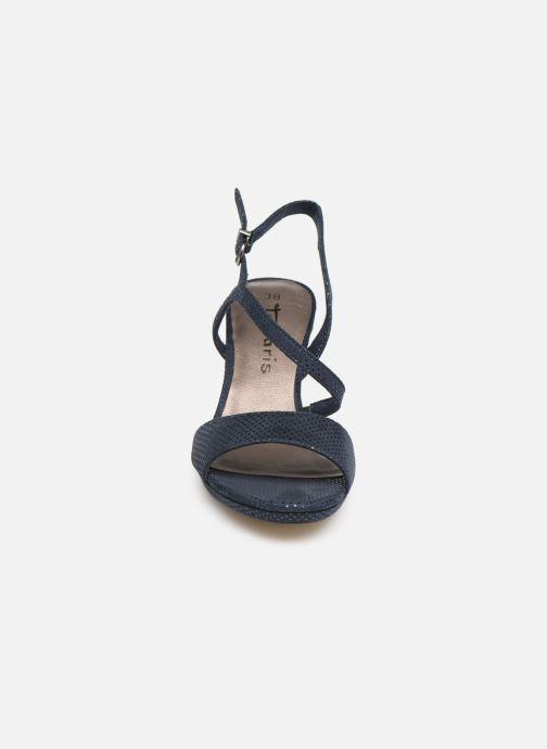 Sandales et nu-pieds Tamaris Surelle Bleu vue portées chaussures