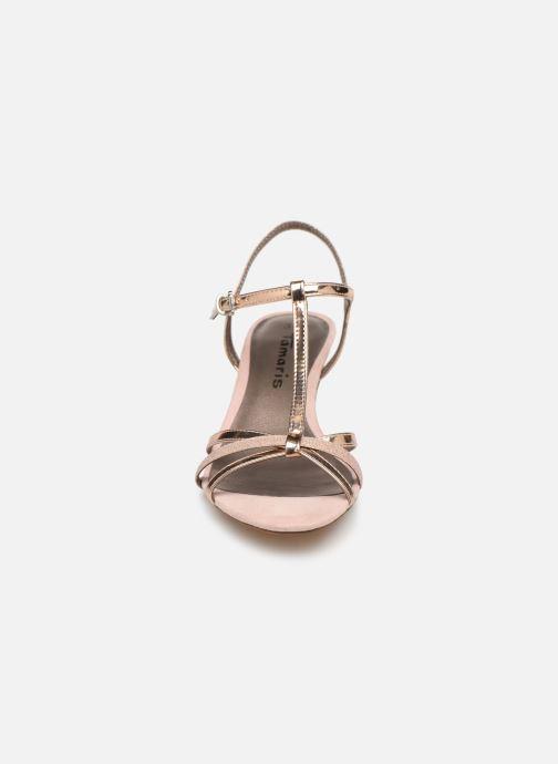 Sandalen Tamaris Sarriette rosa schuhe getragen