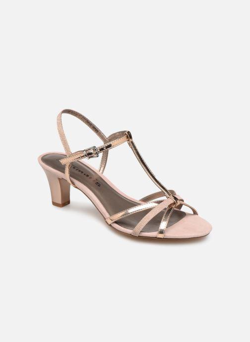 Sandals Tamaris Sarriette Pink detailed view/ Pair view