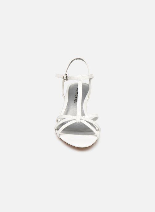Sandales et nu-pieds Tamaris Sarriette Blanc vue portées chaussures