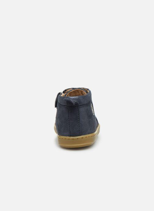 Bottines et boots Shoo Pom Bouba Zippy Bleu vue droite