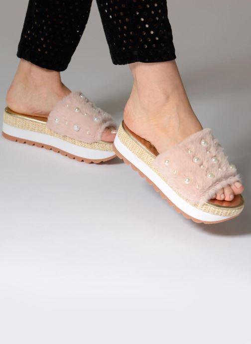 Clogs & Pantoletten Gioseppo Mooni rosa ansicht von unten / tasche getragen