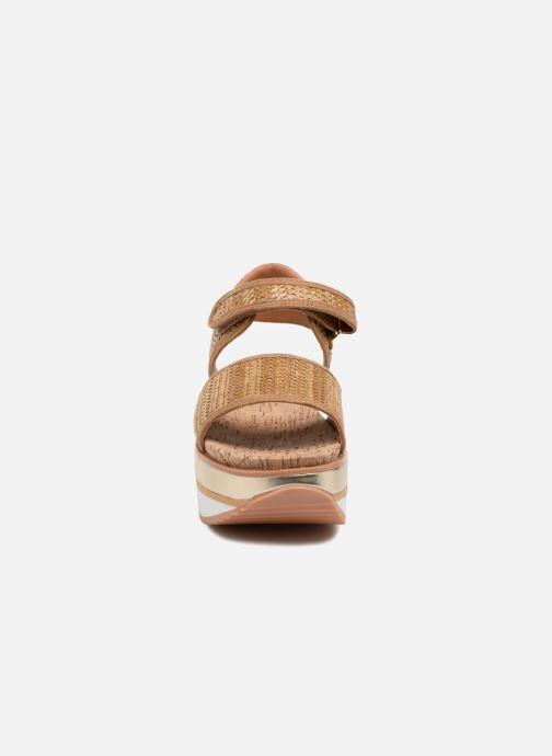Sandales et nu-pieds Gioseppo Piset Marron vue portées chaussures
