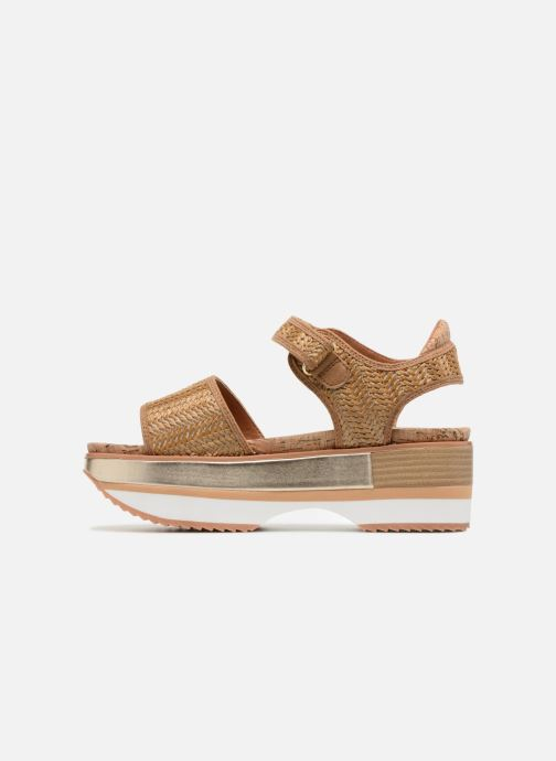 Sandales et nu-pieds Gioseppo Piset Marron vue face