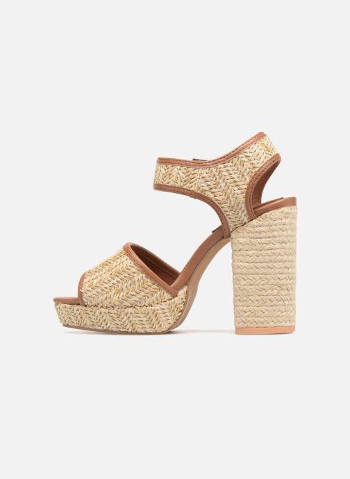 Sandales et nu-pieds Gioseppo Banain Beige vue face