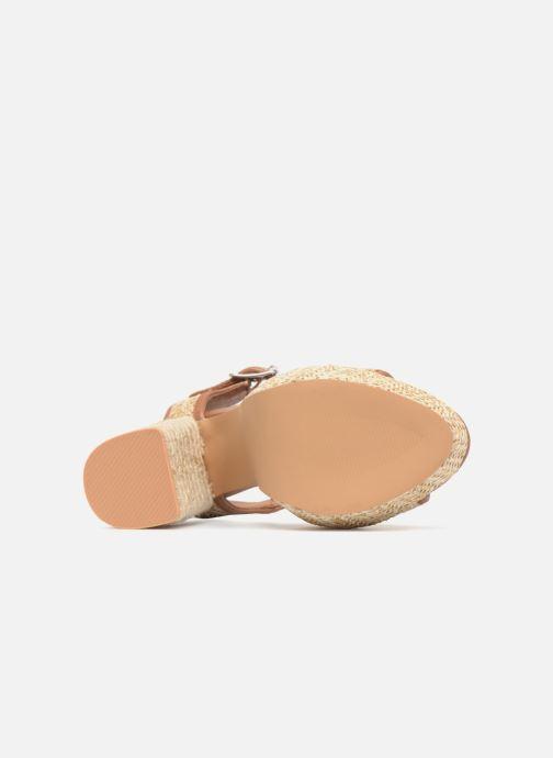 Sandales et nu-pieds Gioseppo Banain Beige vue haut