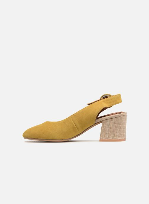High heels Gioseppo Isas Yellow front view