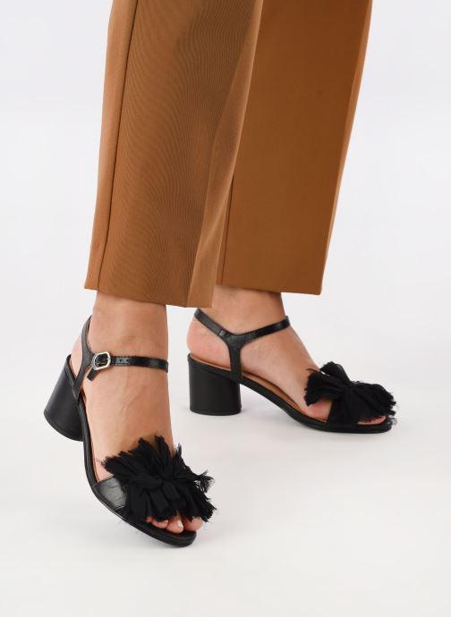 Sandalen Gioseppo Ulmynos schwarz ansicht von unten / tasche getragen