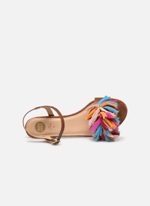 Sandali e scarpe aperte Gioseppo Ulmynos Marrone immagine sinistra