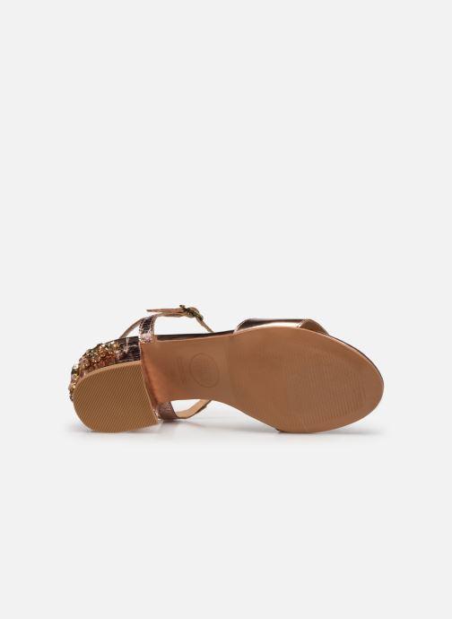 Sandales et nu-pieds Gioseppo Losbel Rose vue haut
