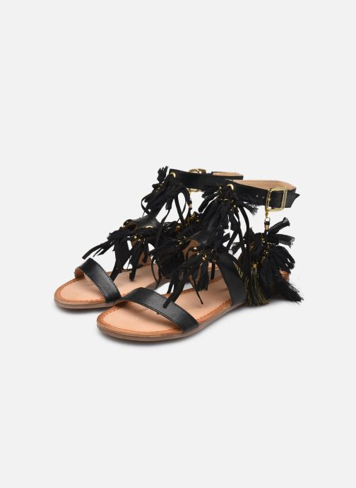Sandals Gioseppo Banroc Black view from underneath / model view