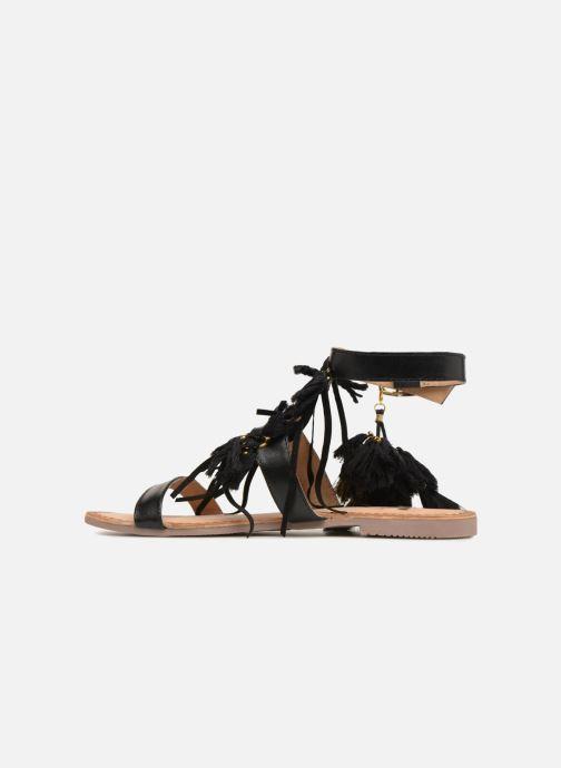 Sandalen Gioseppo Banroc schwarz ansicht von vorne