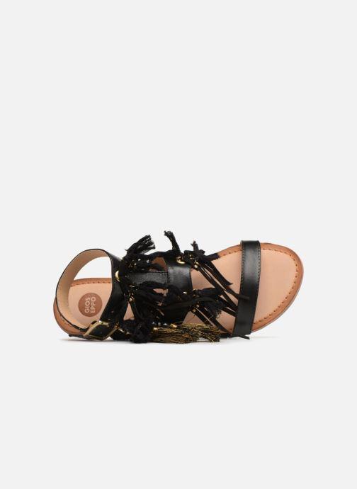 Sandales et nu-pieds Gioseppo Banroc Noir vue gauche