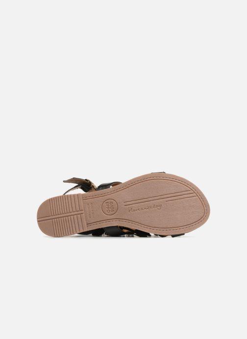 Sandales et nu-pieds Gioseppo Banroc Noir vue haut