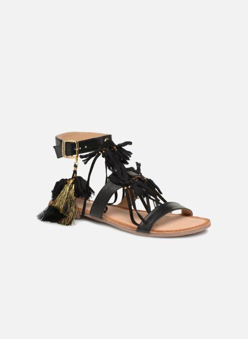 Sandals Gioseppo Banroc Black detailed view/ Pair view
