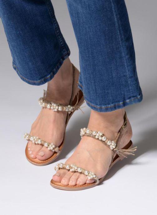 Sandales et nu-pieds Gioseppo Limith Marron vue bas / vue portée sac