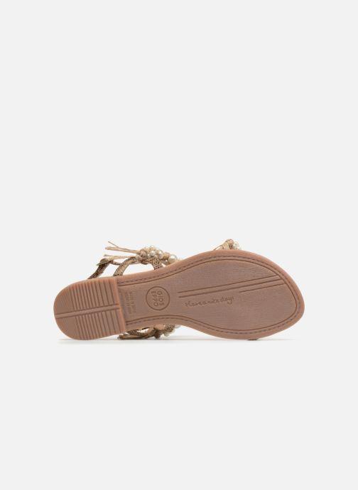 Sandales et nu-pieds Gioseppo Limith Marron vue haut
