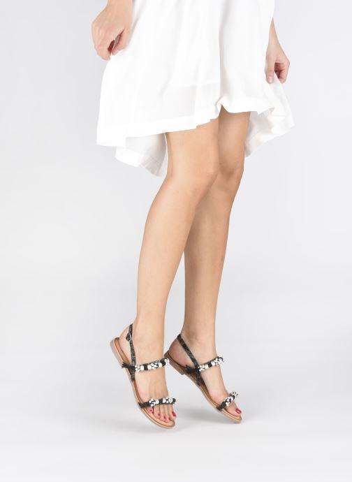 Sandales et nu-pieds Gioseppo Limith Noir vue bas / vue portée sac