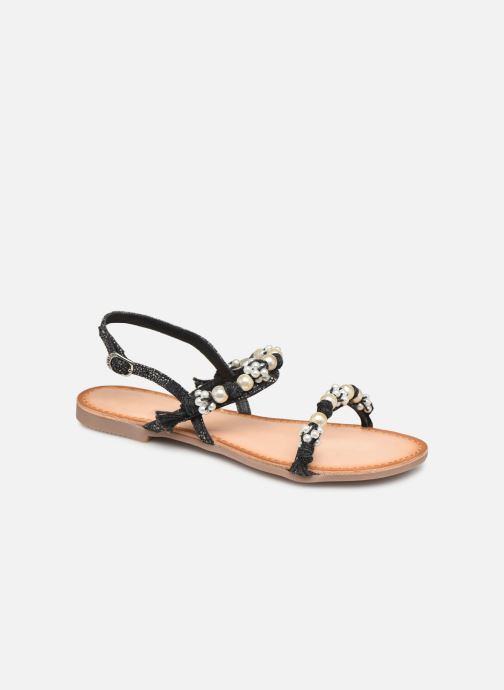 Sandals Gioseppo Limith Black detailed view/ Pair view
