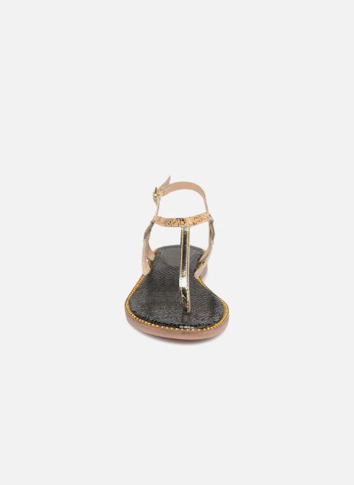 Sandales et nu-pieds Gioseppo Iicolo Or et bronze vue portées chaussures