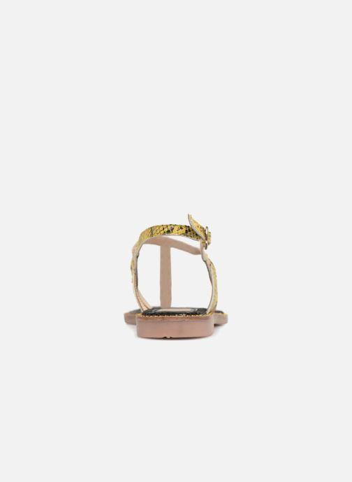 Sandales et nu-pieds Gioseppo Iicolo Or et bronze vue droite