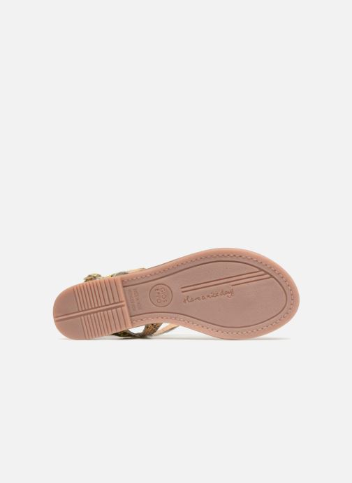 Sandales et nu-pieds Gioseppo Iicolo Or et bronze vue haut