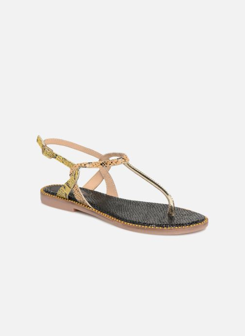 Sandales et nu-pieds Gioseppo Iicolo Or et bronze vue détail/paire