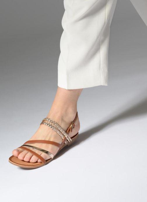 Sandalen Gioseppo Focaze gold/bronze ansicht von unten / tasche getragen