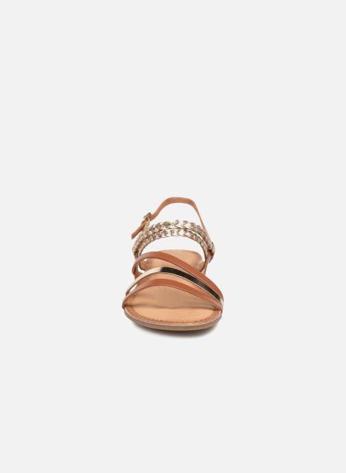 Sandales et nu-pieds Gioseppo Focaze Or et bronze vue portées chaussures