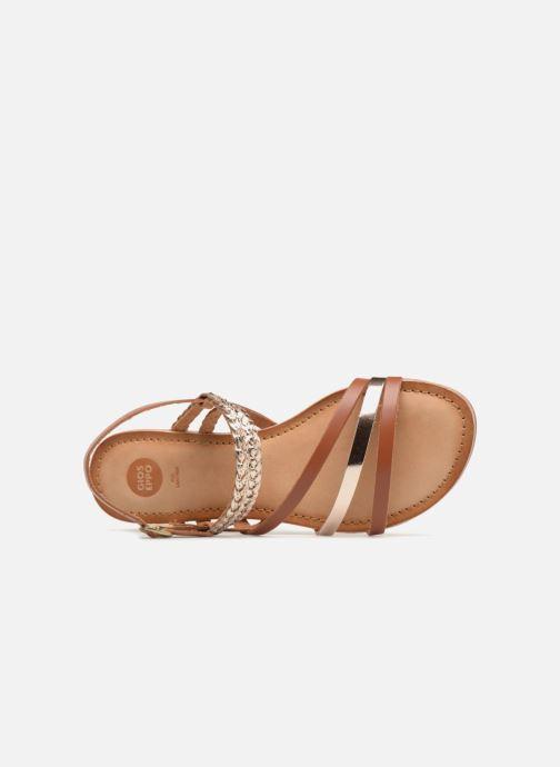Sandales et nu-pieds Gioseppo Focaze Or et bronze vue gauche