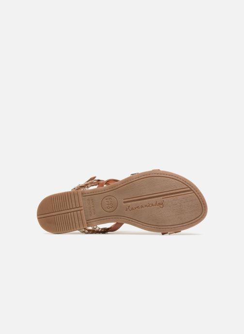 Sandales et nu-pieds Gioseppo Focaze Or et bronze vue haut
