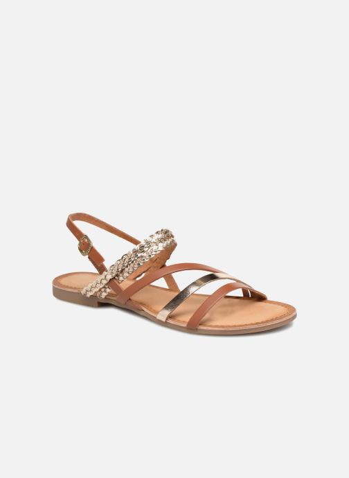Sandales et nu-pieds Gioseppo Focaze Or et bronze vue détail/paire