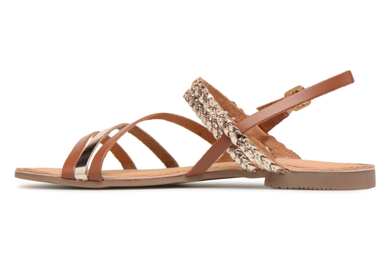 Sandales et nu-pieds Gioseppo Focaze Or et bronze vue face