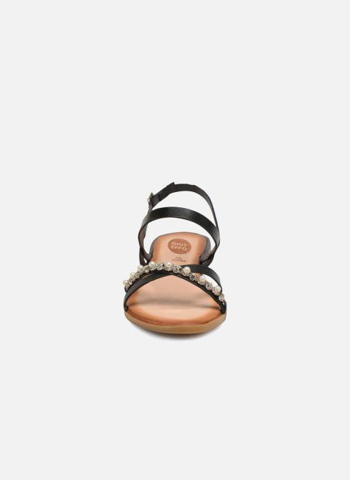 Sandales pieds Gioseppo Negro Pinaoe Nu Et wZOuPkilXT