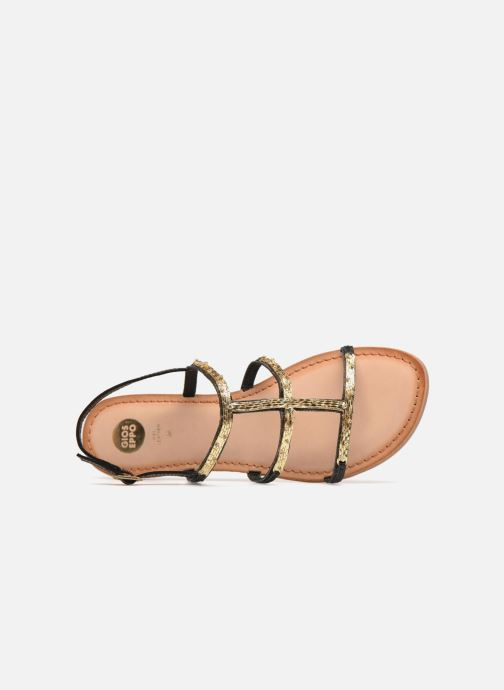 Sandals Gioseppo Gafiro Bronze and Gold view from the left