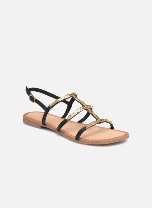 Sandals Gioseppo Gafiro Bronze and Gold detailed view/ Pair view