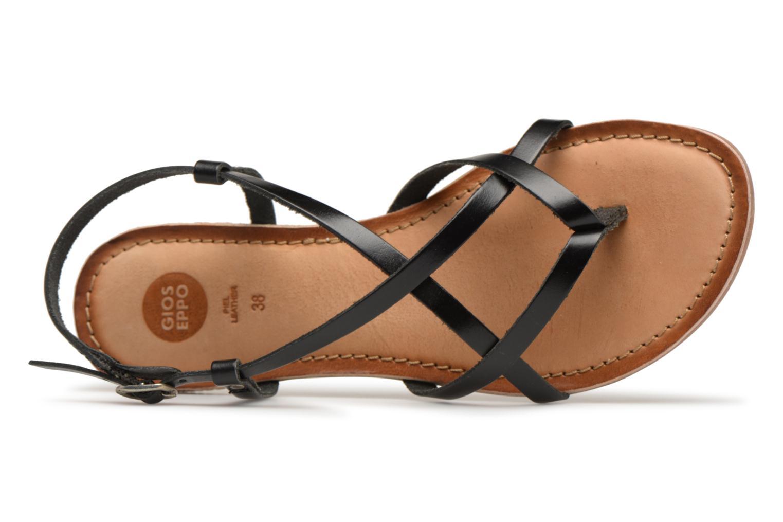 Sandales et nu-pieds Gioseppo Bomuto Noir vue gauche