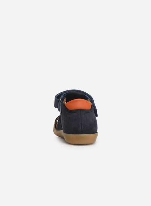 Sandales et nu-pieds Shoo Pom Pika Scratch Bleu vue droite