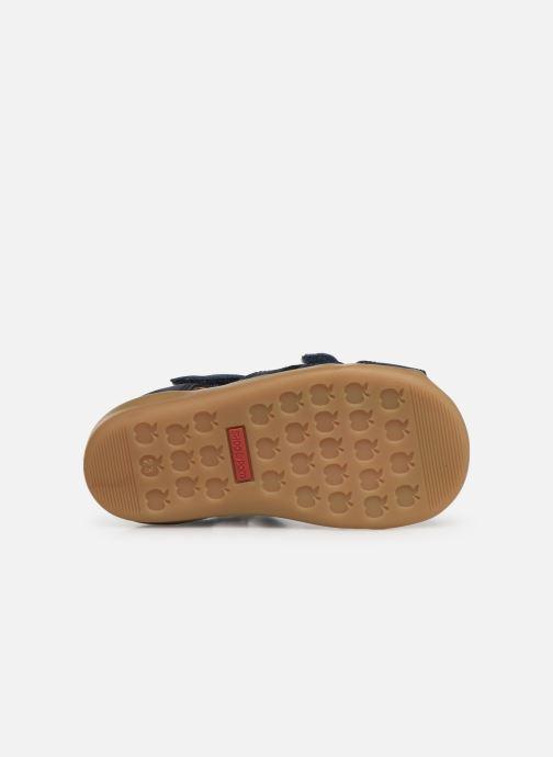 Sandales et nu-pieds Shoo Pom Pika Scratch Bleu vue haut