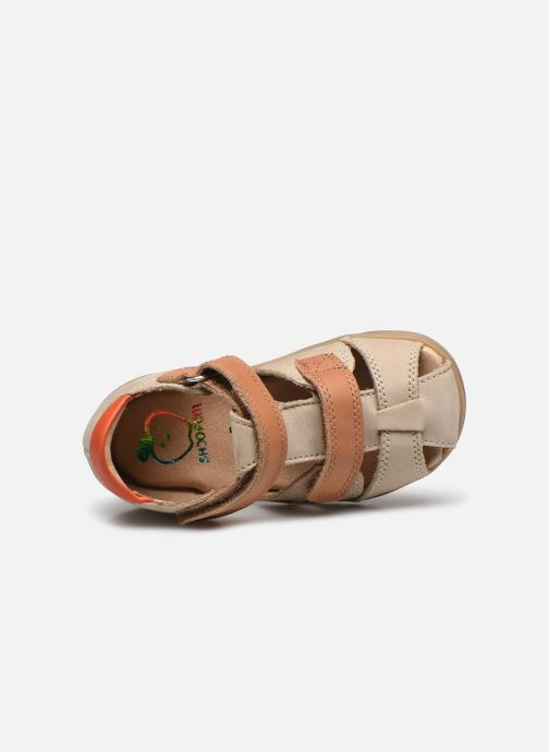 Sandales et nu-pieds Shoo Pom Pika Scratch Beige vue gauche