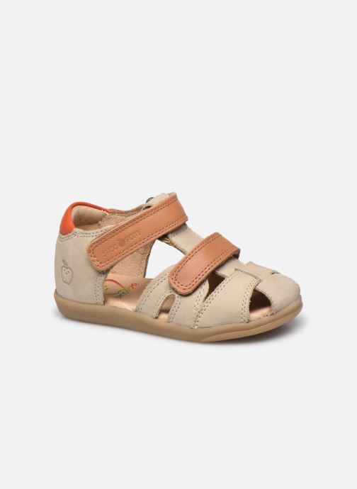 Sandales et nu-pieds Shoo Pom Pika Scratch Beige vue détail/paire