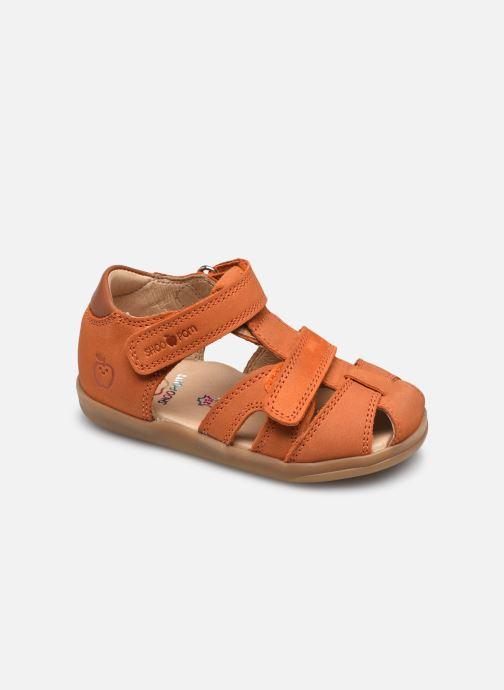 Sandales et nu-pieds Shoo Pom Pika Scratch Marron vue détail/paire