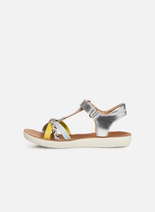 Sandales et nu-pieds Shoo Pom Goa Salome Argent vue face