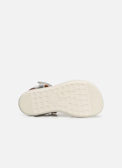 Sandales et nu-pieds Shoo Pom Goa Salome Argent vue haut