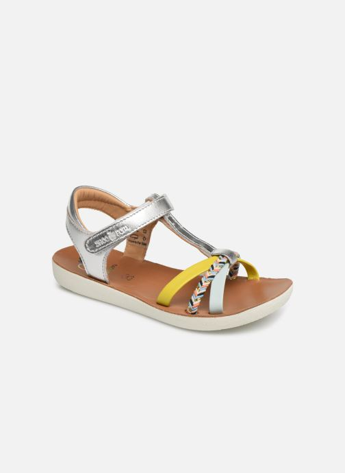 Sandales et nu-pieds Shoo Pom Goa Salome Argent vue détail/paire