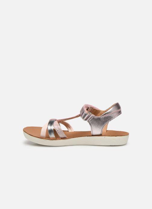 Sandales et nu-pieds Shoo Pom Goa Salome Rose vue face