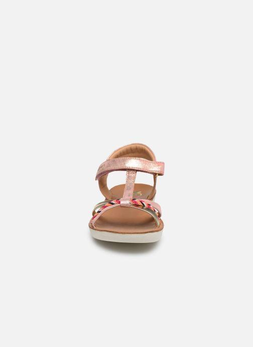Sandales et nu-pieds Shoo Pom Goa Salome Rose vue portées chaussures