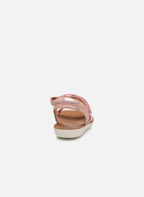 Sandales et nu-pieds Shoo Pom Goa Salome Rose vue droite