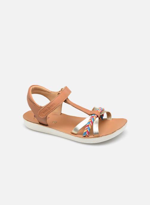 Sandales et nu-pieds Shoo Pom Goa Salome Marron vue détail/paire