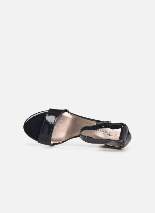 Sandales et nu-pieds Tamaris Alliaire Bleu vue gauche